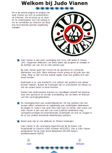 Nieuwe JudoVianen.nl website - De eerste site van judo vianen