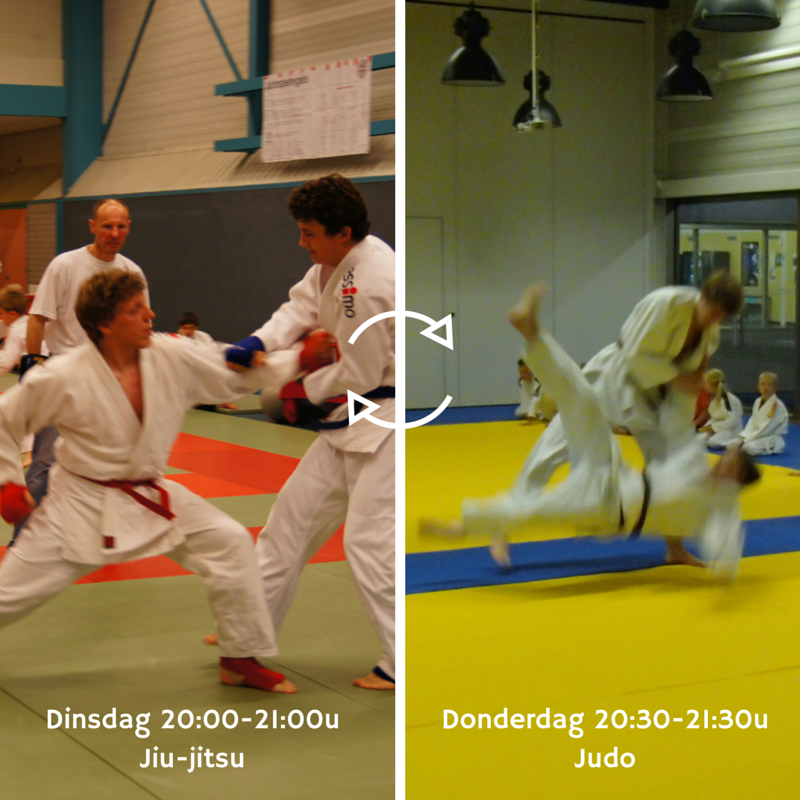Senioren Judo en Jiu-Jitsu wisselen van dag!