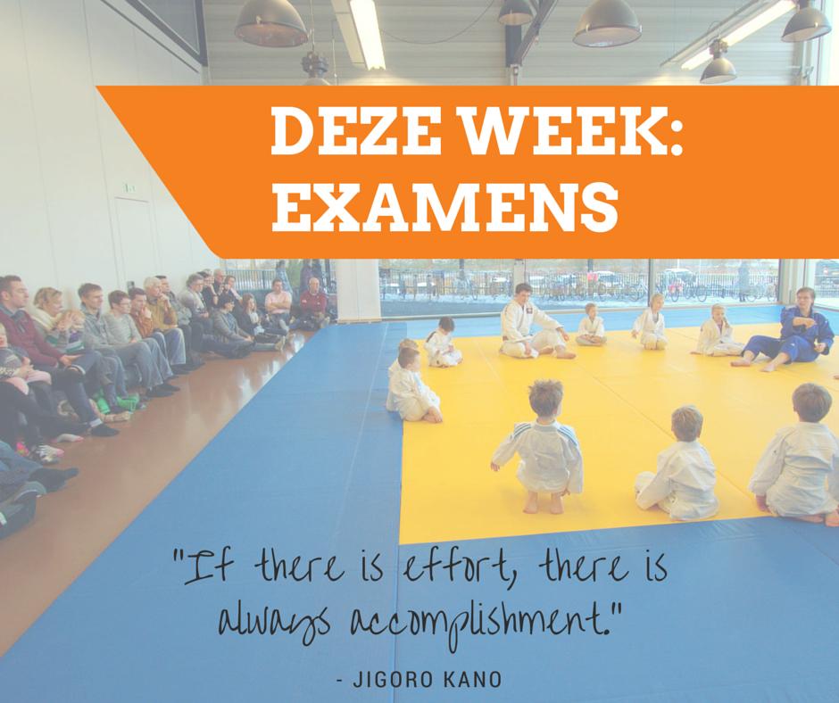 Donderdag 18, zaterdag 20 juni en dinsdag 23 juni zijn er examens!