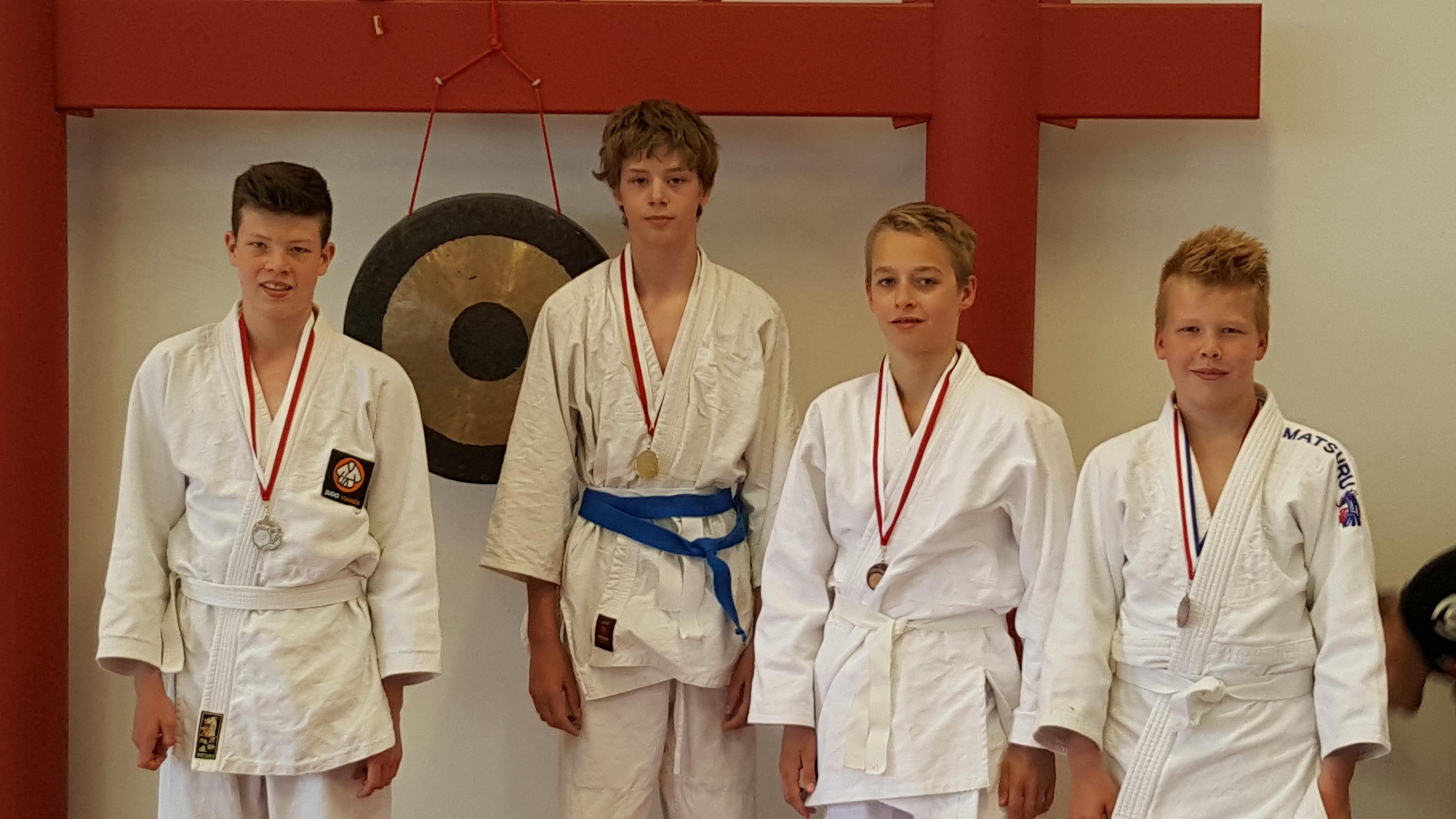 Broers van Hunnik winnen zilver op het judo ne-waza toernooi