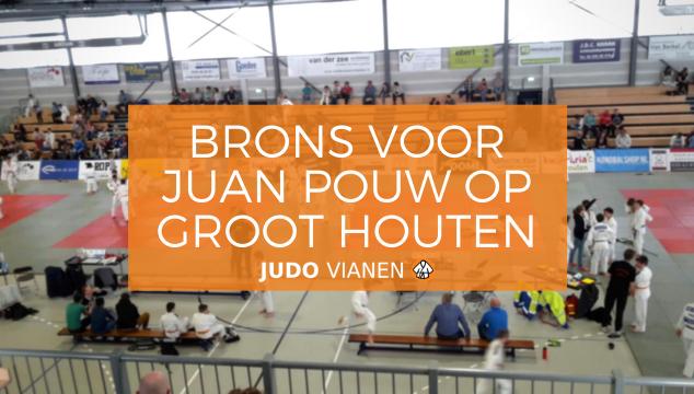 Brons voor Juan Pouw op het Groot Houten Judo Toernooi