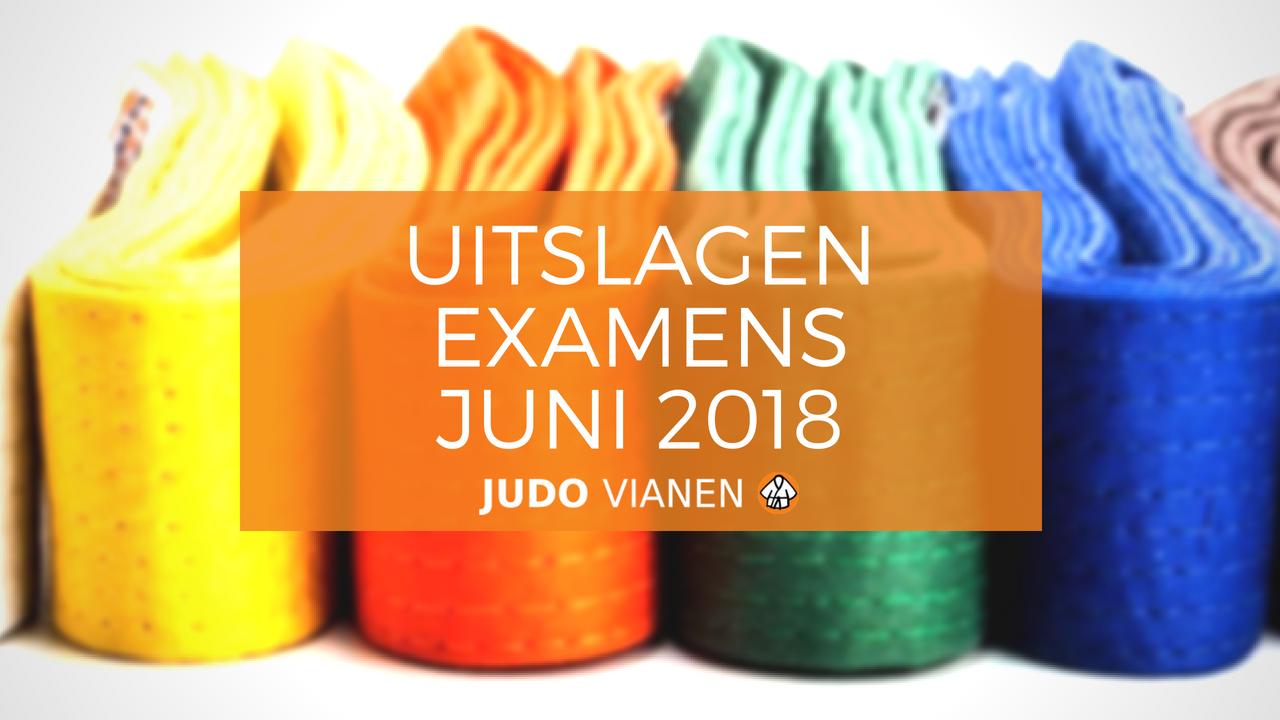 Uitslagen examens juni 2018