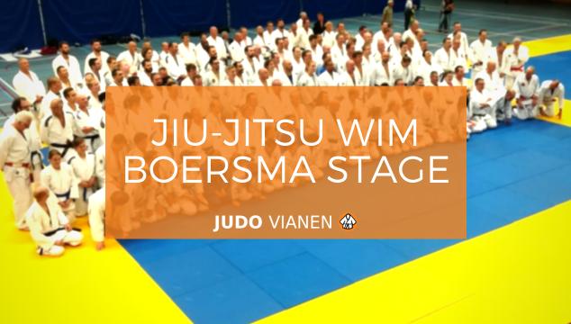 Hans en Jan bij jiu-jitsu Wim Boersma stage