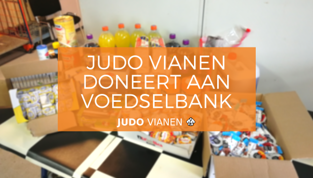 Judo Vianen doneert aan Voedselbank Vianen